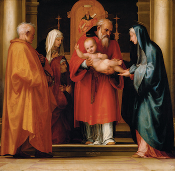 Fra Bartolommeo The Scene of Christ in the Temple Google Art Project